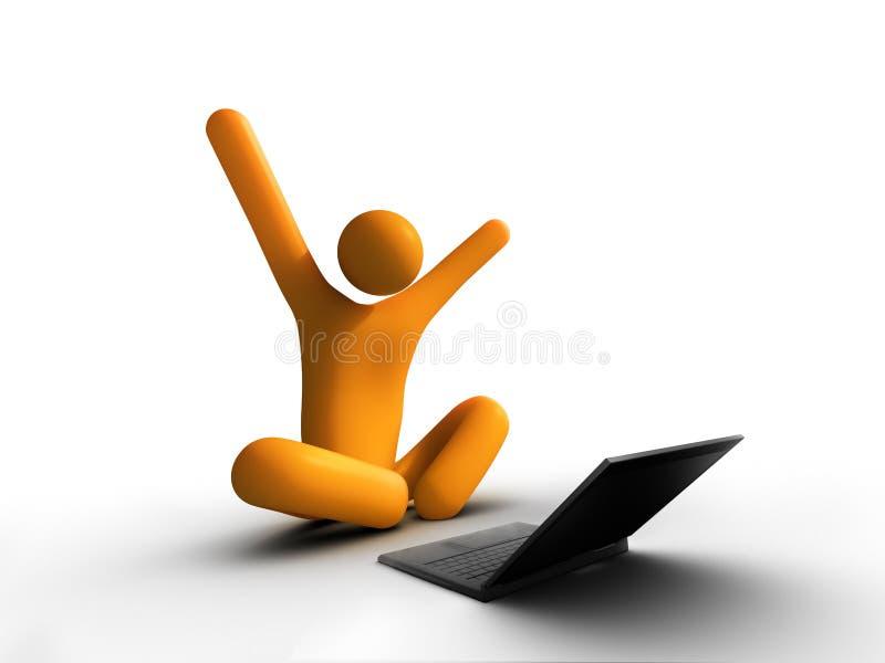 laptopu sukces ilustracja wektor