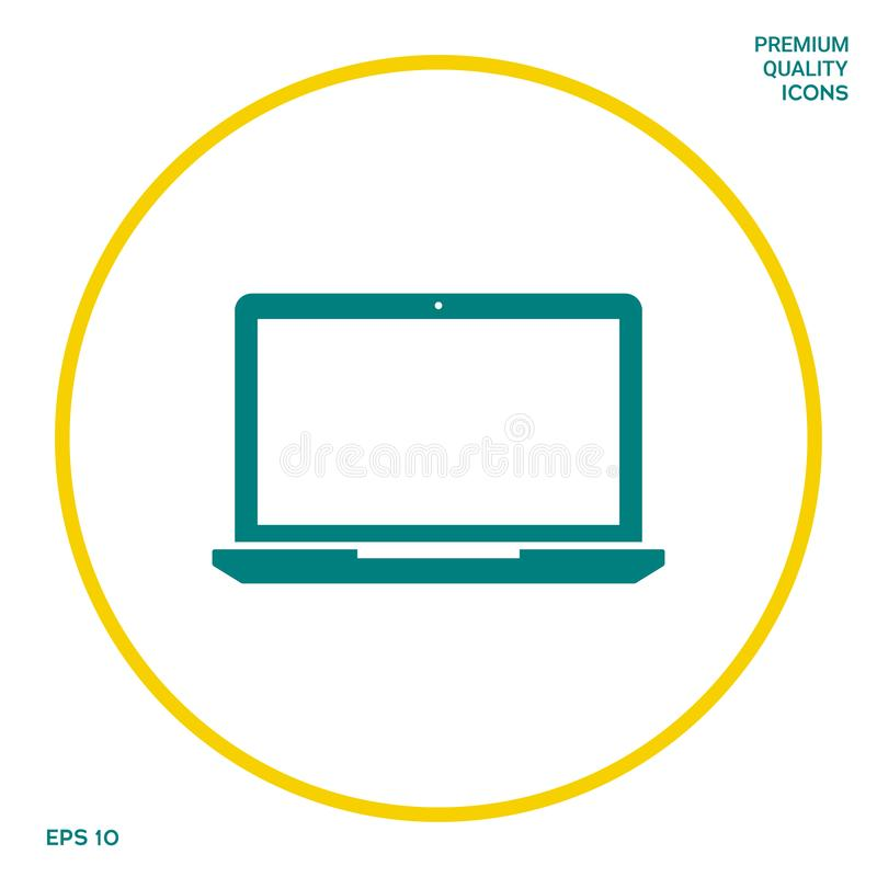 Laptopu symbolu ikona Graficzni elementy dla twój projekta ilustracji