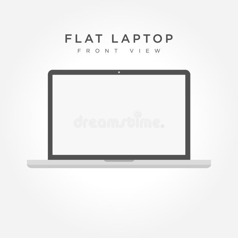 Laptopu wektoru ilustracja royalty ilustracja