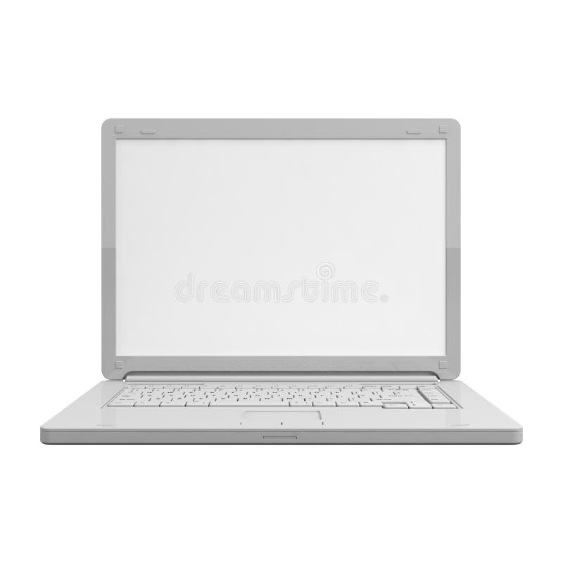 Laptopu widok odosobniony czołowy ilustracja wektor