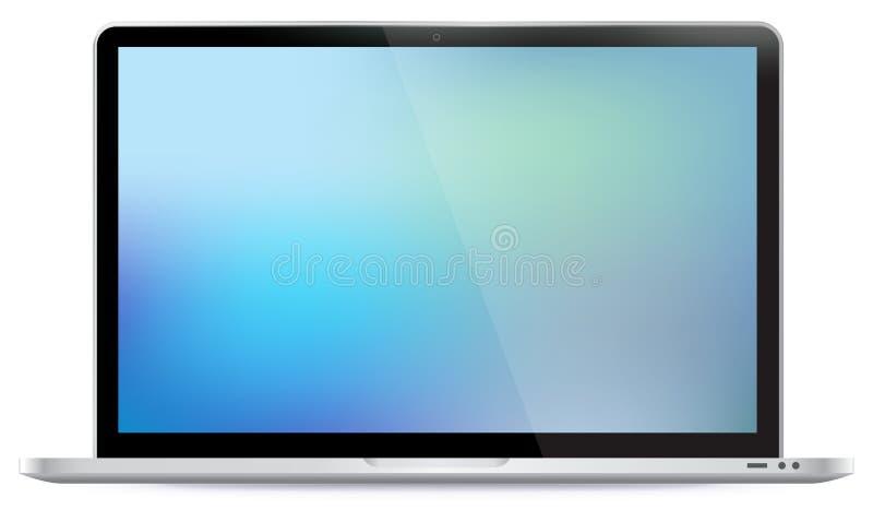 Laptopvektorillustration stock abbildung