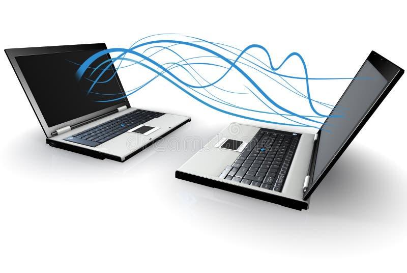 laptopy dwa wirelessly przekazane