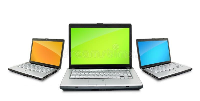 laptopy otwierają obraz stock