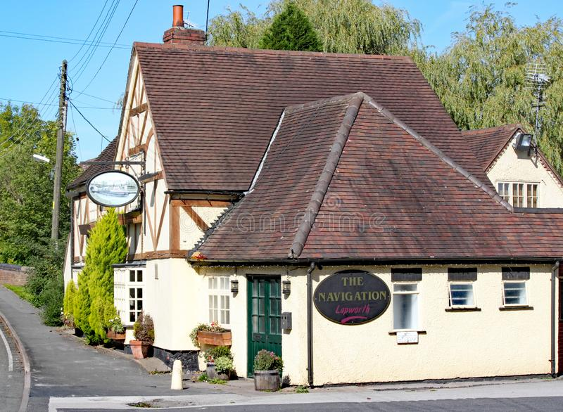 LAPWORTH,WEST MIDLANDS,ENGLAND - SEPT 25TH 2010: The Navigation Pub, a typical canal side pub serving refreshments and food.  stock photos