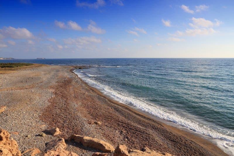 Lara Beach, Chipre foto de archivo