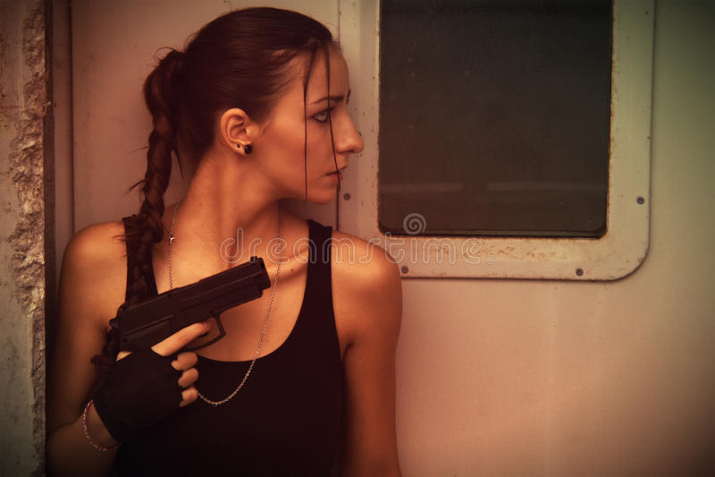 Lara Croft Cosplay stock photos