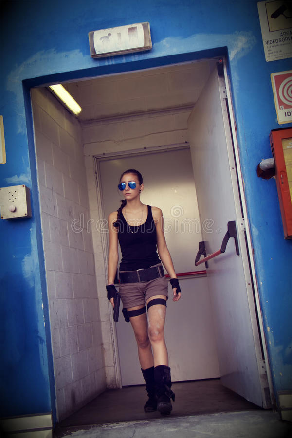 Download Lara Croft Cosplay stock photo. Image of body, girl, exotic - 25818016