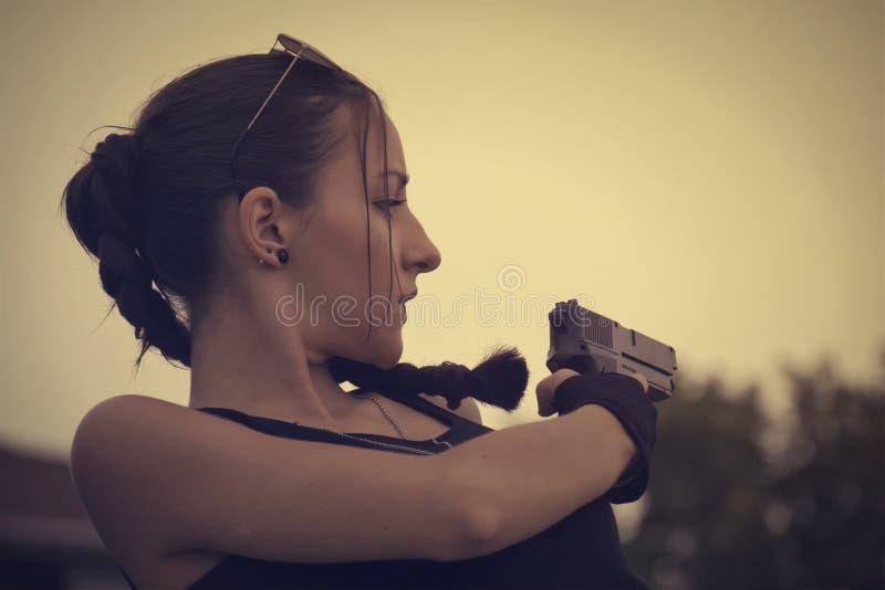 Lara Croft Cosplay stock image
