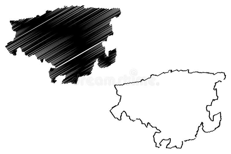 Lara State översiktsvektor vektor illustrationer