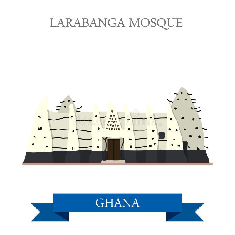 Larabanga清真寺在加纳 向量例证