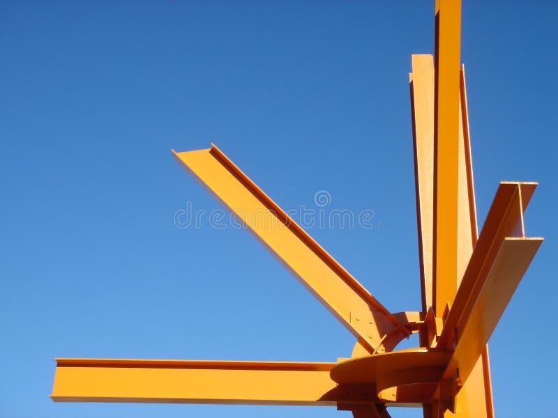 Laranja abstrata da arquitetura imagens de stock