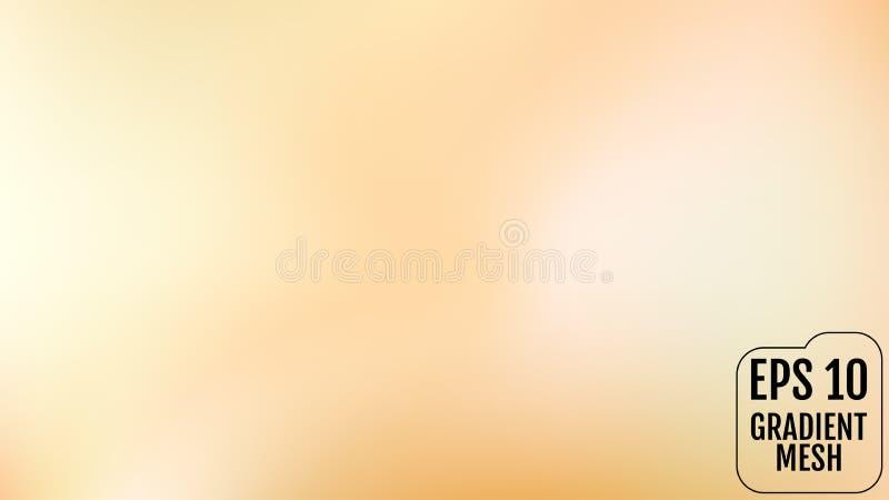 Laranja abstrata e fundo borrado ouro do inclinação com luz Contexto do feriado Ilustração do vetor Conceito da celebração para ilustração stock