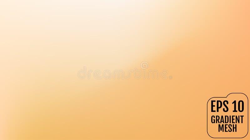 Laranja abstrata e fundo borrado ouro do inclinação com luz Contexto do feriado Ilustração do vetor Conceito da celebração para ilustração royalty free