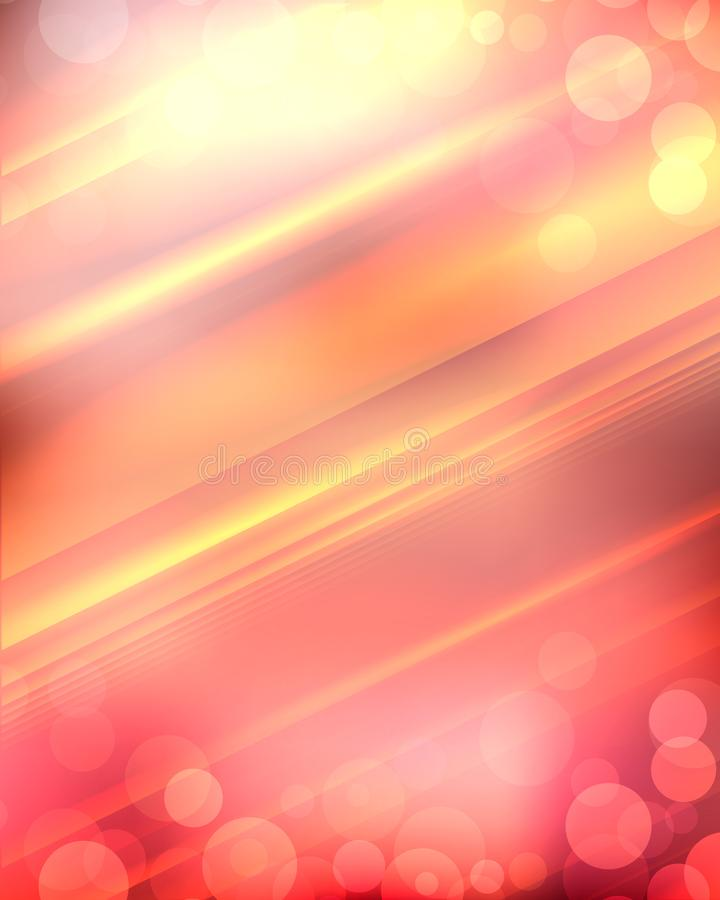 A laranja borrou o fundo com raios do sol e do bokeh ilustração royalty free