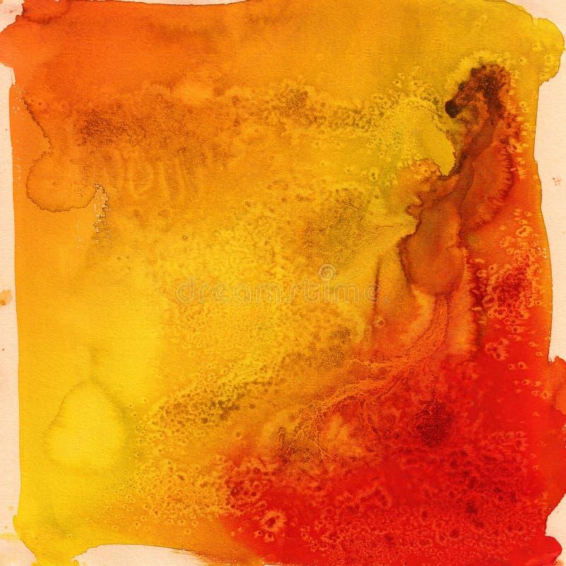A laranja brilhante lista a aquarela ilustração royalty free