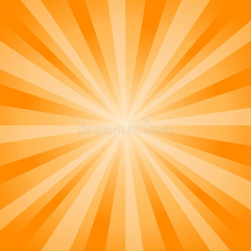 A laranja brilhante macia abstrata irradia o fundo Cmyk do EPS 10 do vetor ilustração do vetor