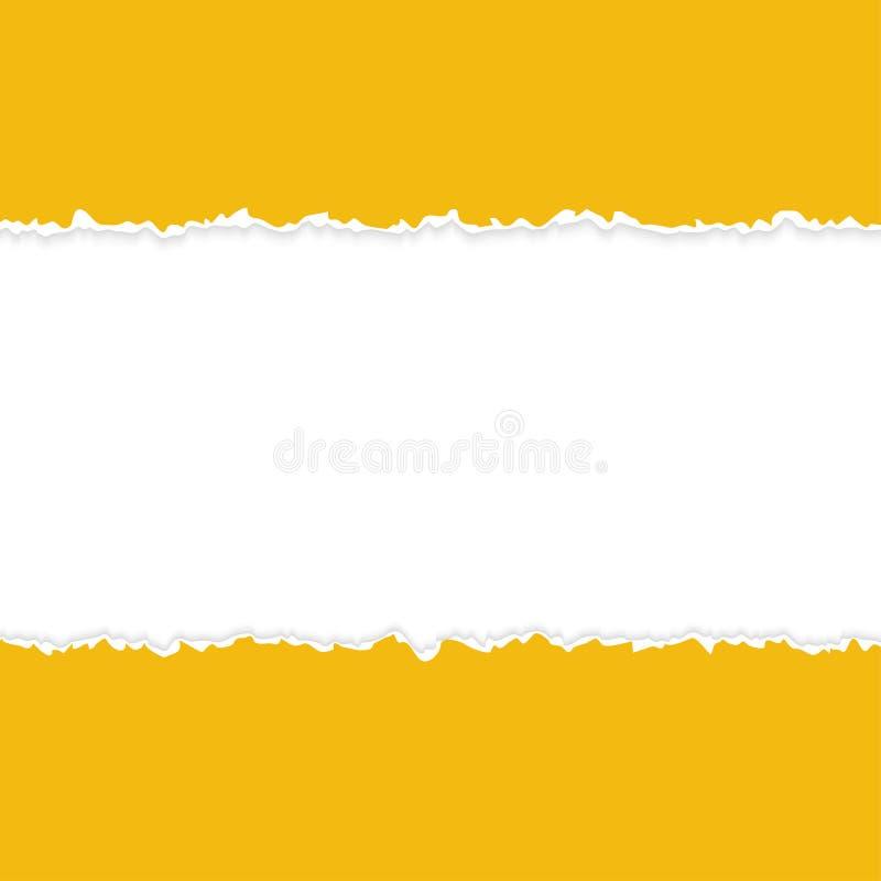 Laranja de papel aberta rasgada ilustração do vetor