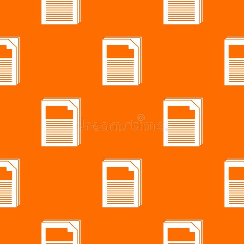 Laranja de papel do vetor do teste padrão ilustração royalty free