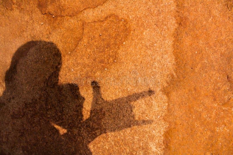 Laranja de pedra do teste padrão do fundo, marrom em Ásia Phuket Tailândia imagem de stock royalty free