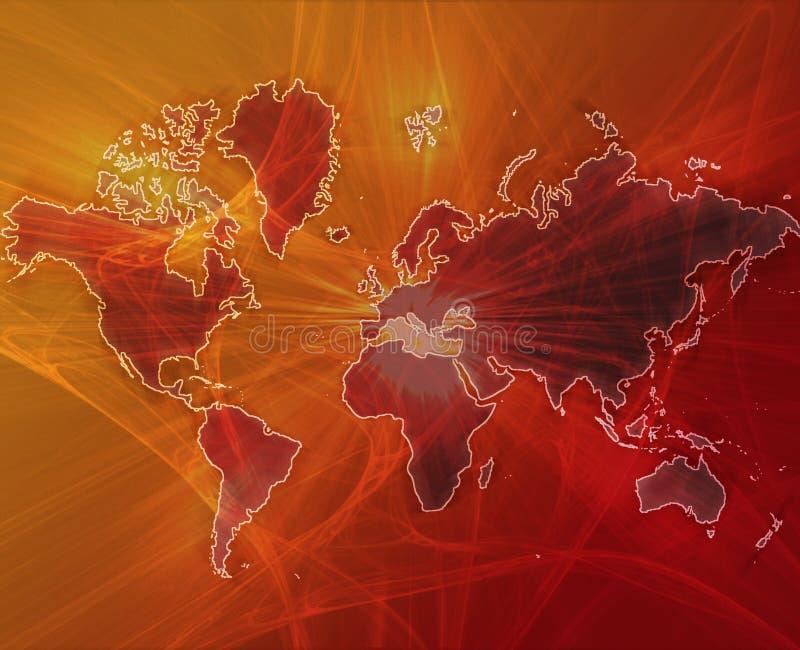 Laranja de transferência de dados do mundo ilustração do vetor