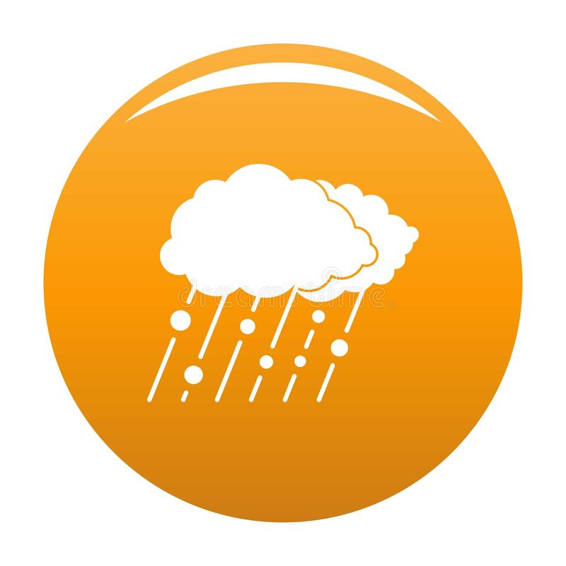 Laranja do ícone da neve da chuva da nuvem ilustração royalty free