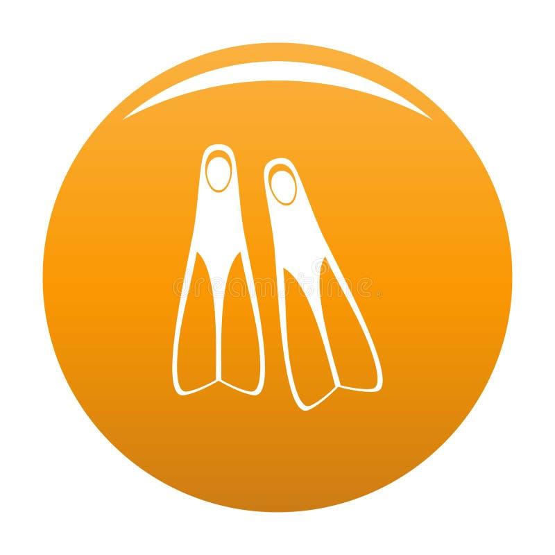 Laranja do ícone das aletas ilustração stock
