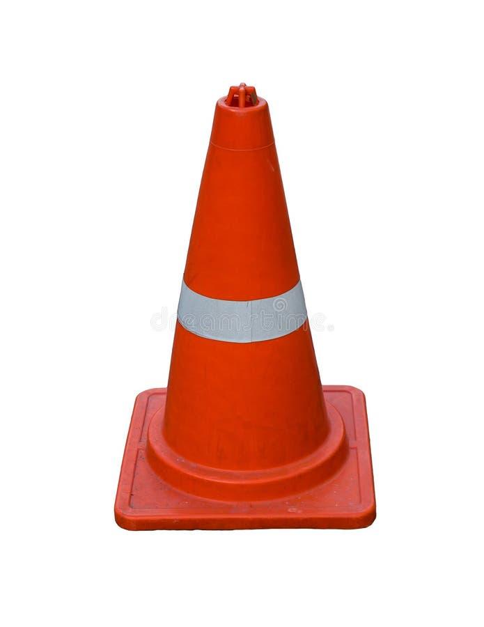 Laranja do cone do tráfego foto de stock royalty free