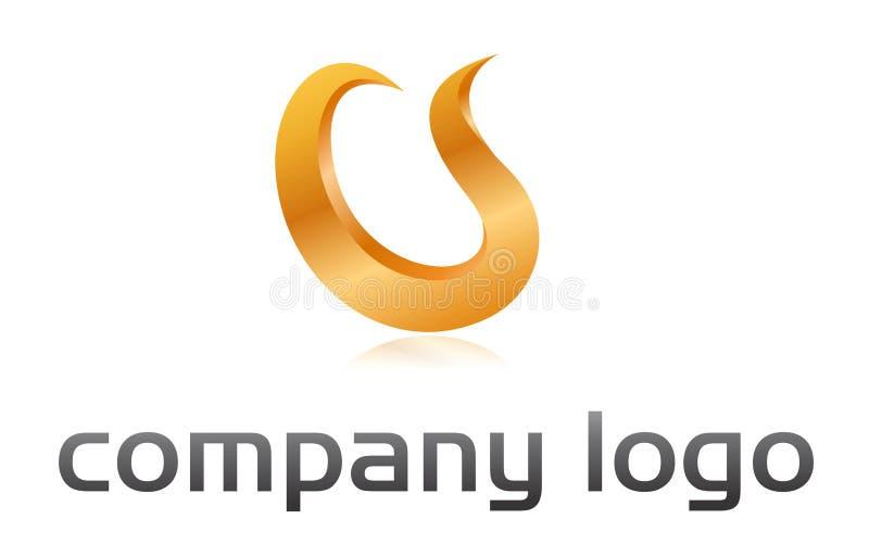 Laranja do logotipo da flama ilustração royalty free