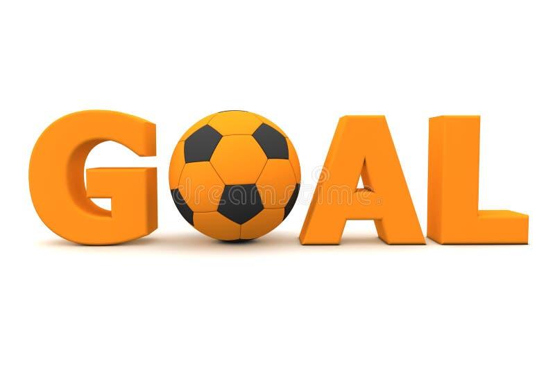 Laranja do objetivo do futebol ilustração stock