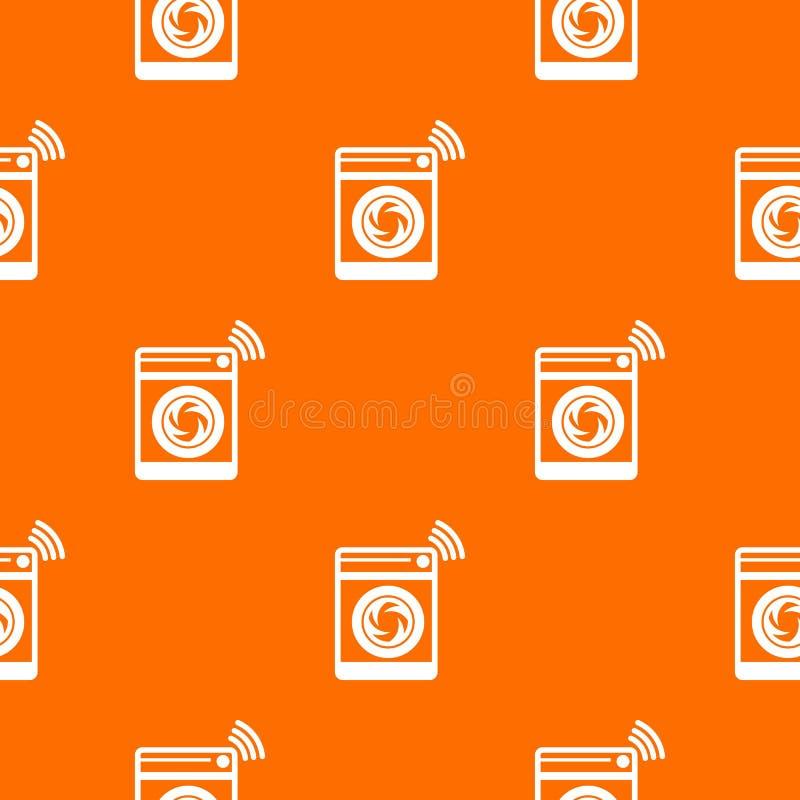 Laranja do vetor do teste padrão da máquina de lavar ilustração stock