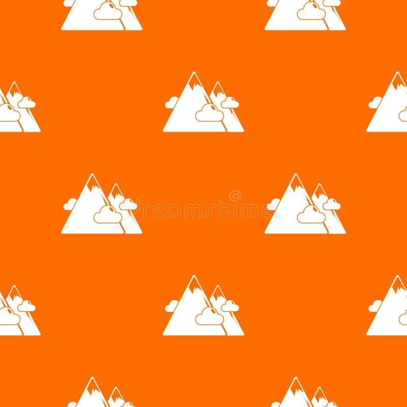 Laranja do vetor do teste padrão das montanhas ilustração do vetor