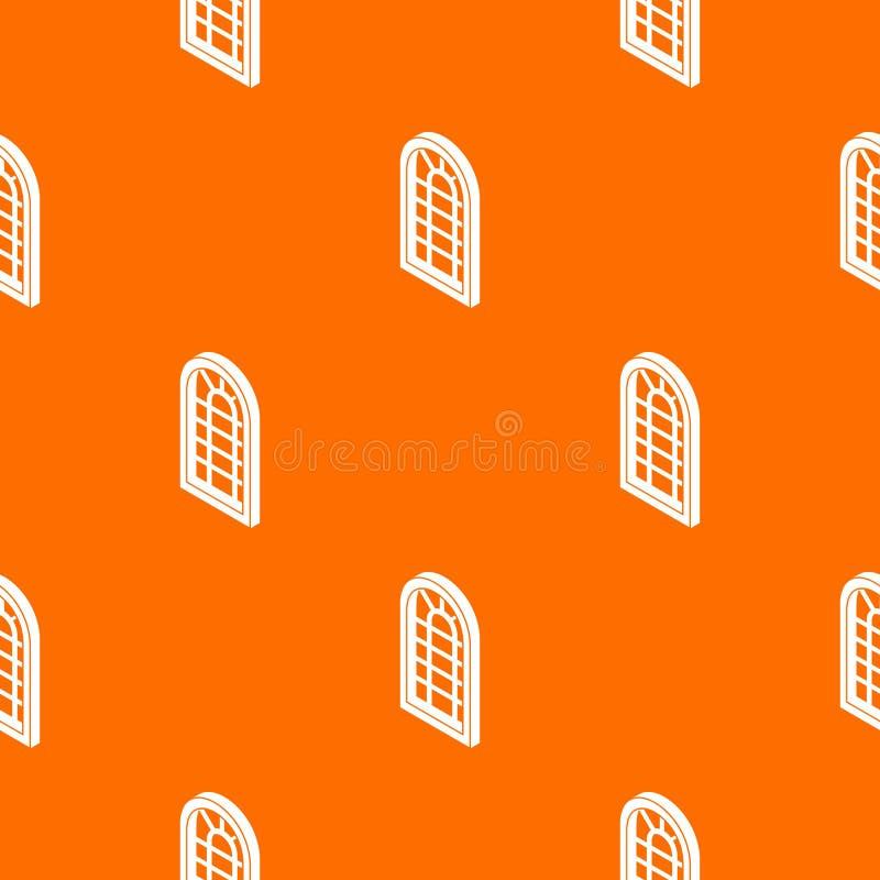 Laranja do vetor do teste padrão do quadro de janela do palácio ilustração stock