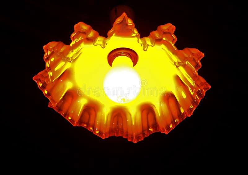 Laranja e branco da lâmpada fotos de stock royalty free
