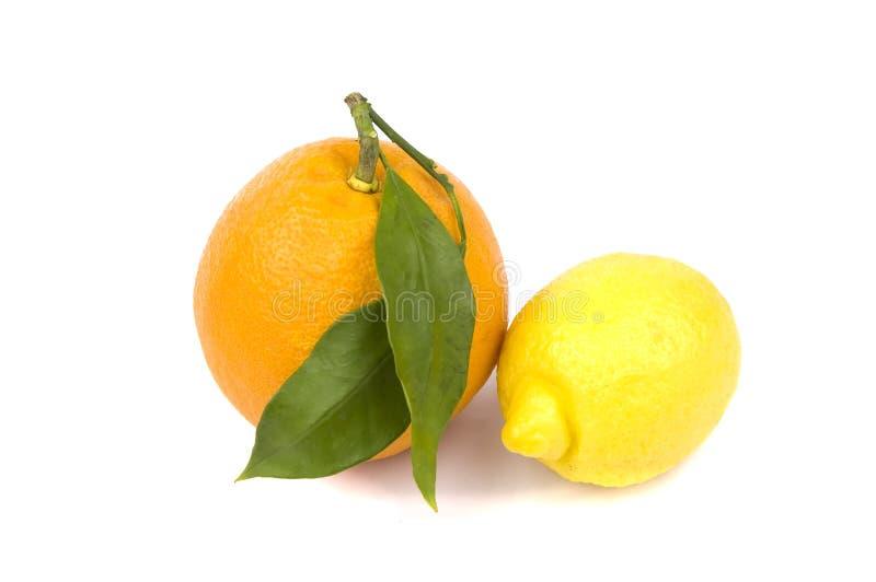 Laranja e limão foto de stock