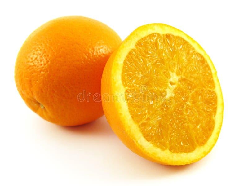 Laranja e meia fruta fotos de stock royalty free