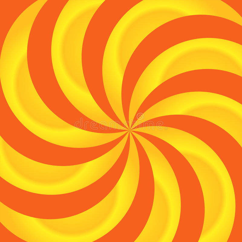 Laranja e sumário dos redemoinhos do amarelo ilustração do vetor