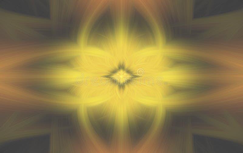 Laranja floral do teste padr?o amarelo geom?trico Inc?ndio ilustração royalty free