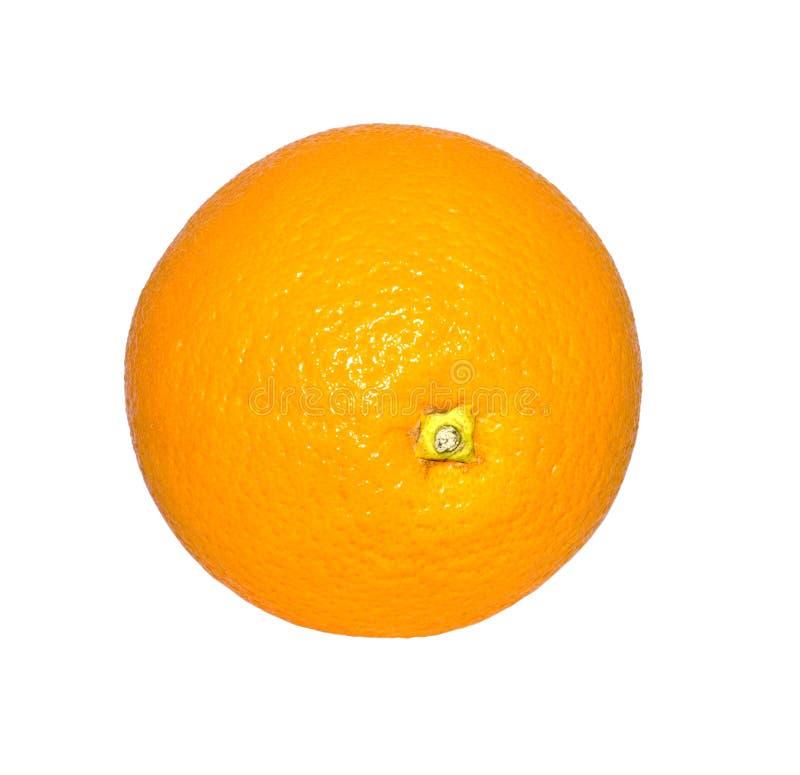 Laranja isolada no fundo branco Fruto, alimento imagem de stock