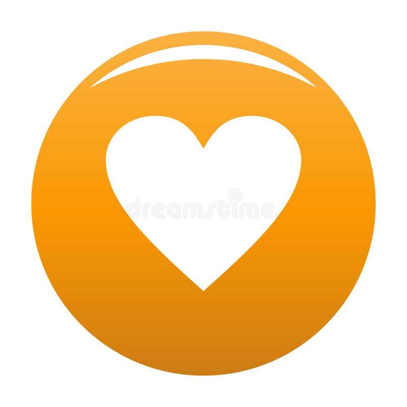 Laranja maçante do ícone do coração ilustração do vetor