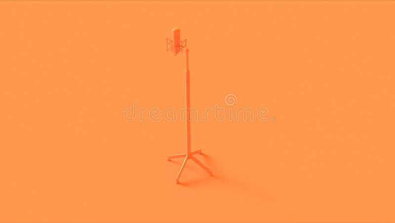 Laranja/microfone e suporte do pêssego ilustração royalty free