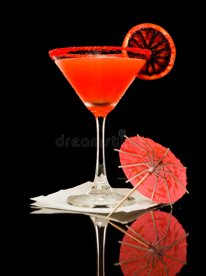 Laranja pigmentada Martini fotografia de stock