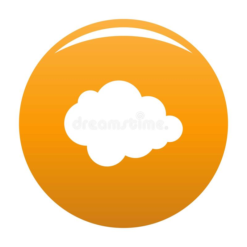 Laranja polar do ícone da nuvem ilustração stock