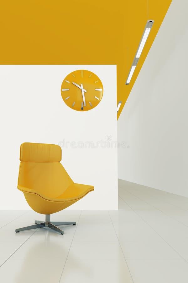 A laranja tonificou o interior ilustração royalty free