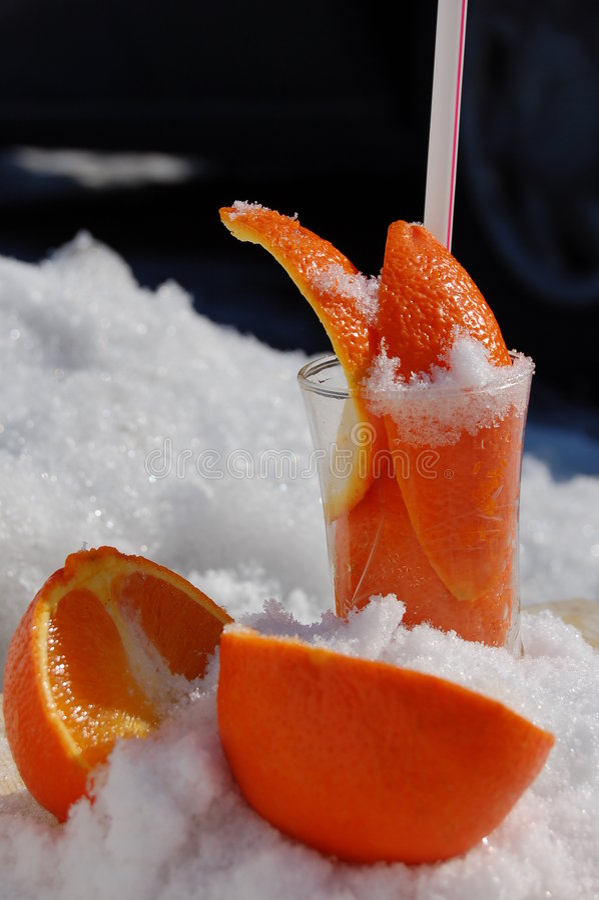 Laranjas do gelo fotografia de stock royalty free