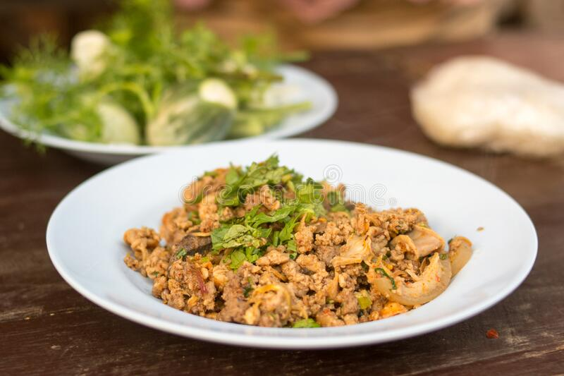 Larb Food North of Thailand stock photos