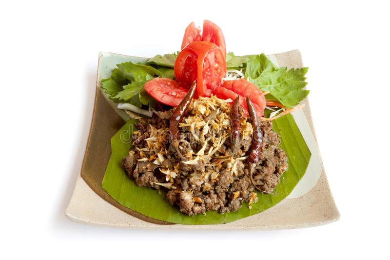 LARB MOO, Delicious. Northern Thai food stock photography