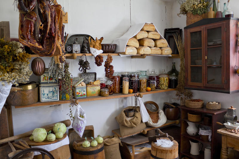 Larder in an old house in the country royalty free stock photos