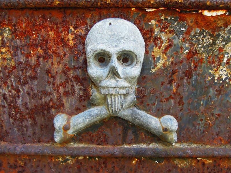 LaRecoleta kyrkogård - skalleskulptur royaltyfri bild