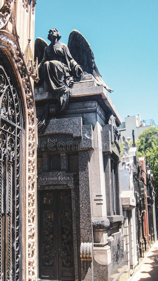 LaRecoleta kyrkog?rd i Buenos Aires arkivbild