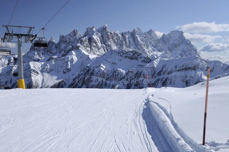 Download Laresei Ski-run At Falcade, Dolomites Stock Photo - Image: 23826424